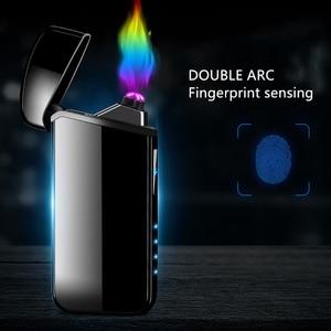Encendedor de arco a prueba de viento con doble Plasma, recargable por USB, accesorios para cigarrillos eléctricos para fumar, LighterAL005