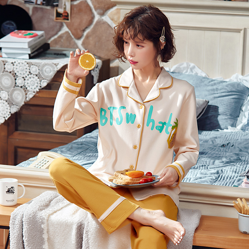 Autumn & Winter New Style 6535 Cotton Long Sleeve Trousers Pajamas WOMEN'S Cardigan Ladies Home Leisure Suit