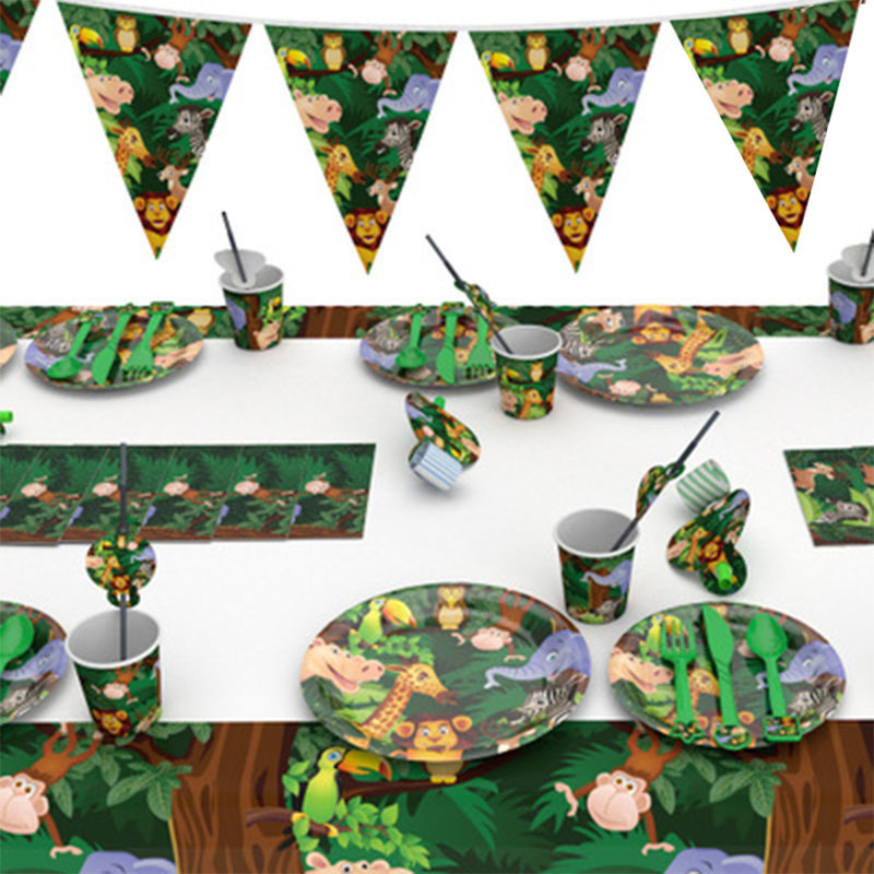 Jungle Decoration Jungle Party Safari Party Baby Shower Decor Birthday Party Decorations Kids Wild One 1st Birthday Deco Baloon
