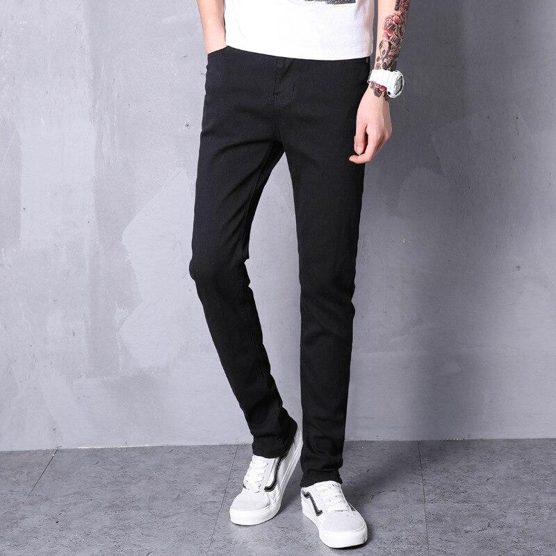 2019 Autumn New Style Men Casual Jeans Men's Youth Fashion Slim Fit Versatile Straight-Cut Elasticity Long Pants