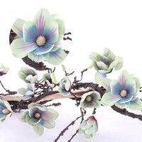 9.84FT Artificial Magnolia Vine Silk Magnolia Garland Artificial Flowers for DIY Craft Home Garden Wedding Party Decor