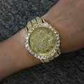 Часы в стиле хип-хоп для мужчин s, роскошные часы с блестящими камнями и фианитами, кварцевые наручные часы, золотые, серебряные часы из нержа...
