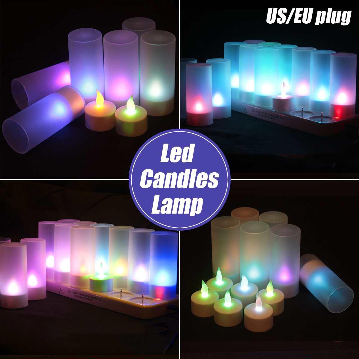 12 pièces LED bougie thé lumière batterie alimenté lampe Simulation couleur flamme clignotant maison mariage fête d'anniversaire décoration bougies
