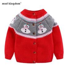 Cardigan Boy Outerwear Mudkingdom Cartoon Sweater Knitted Long-Sleeve Girls Winter Autumn