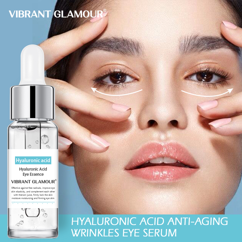 VIBRANT GLAMOUR Hyaluronic Acid Anti-Aging Wrinkles Eye Serum Hydrolyzed Collagen Dark Circles Eye Puffiness Moisture Eye Liquid