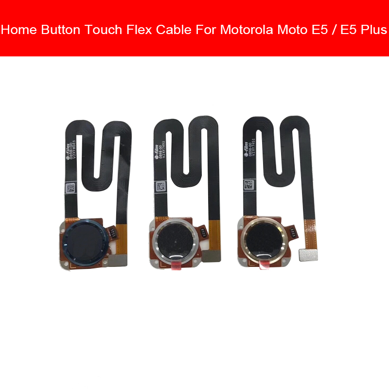 Fingerprint Sensor Home Flex Cable For Motorola Moto E5 E5 Plus E5Plus G6 PLAY G6PLAY Home Button Flex Cable Replacement Parts