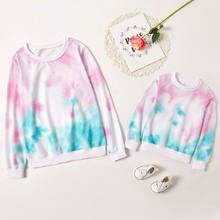 Осенне зимняя футболка для маленьких девочек с галстуком «Мама