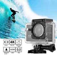 Cámara deportiva HD 4K Wifi Cámara deportiva 1080P Hd 16Mp casco Cámara impermeable casco grabación de Video Dv Control remoto deportes vídeo Dvr