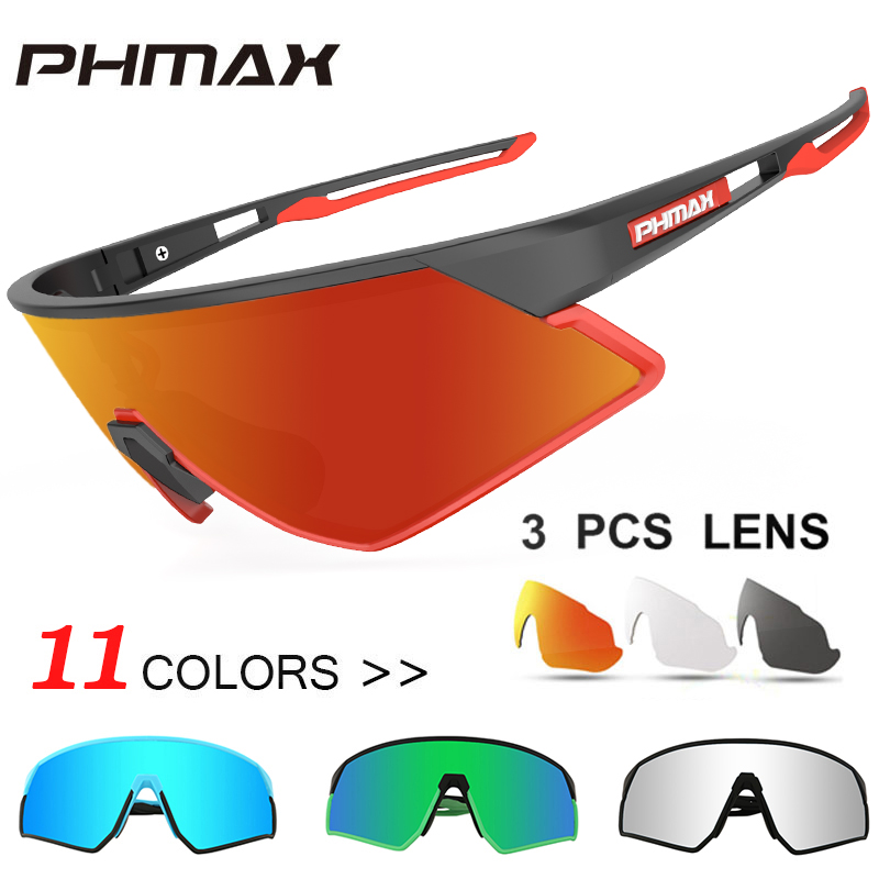 PHMAX Ultralight Polarized Cycling Sun Glasses 11 Color Outdoor Sports Bicycle Glasses Men Women Bike Sunglasses Goggles Eyewear