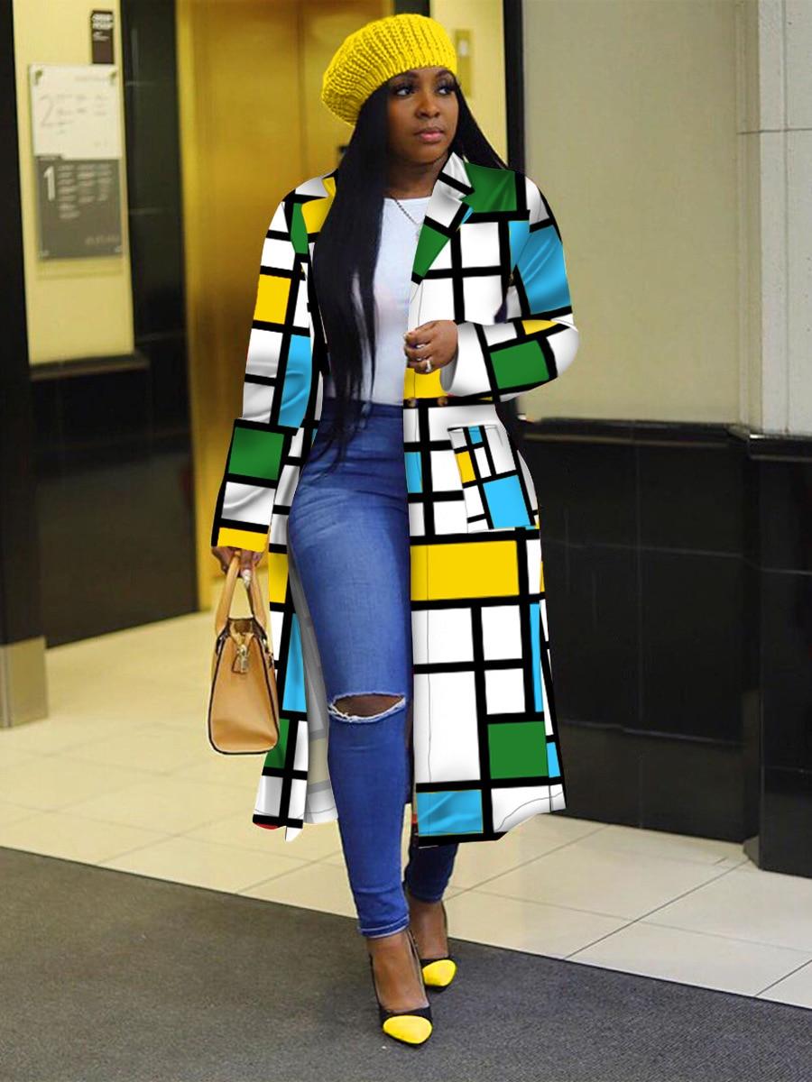 African Women Long Sleeve Printing Plus 1