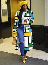 Vêtements africains pour femmes, 2021, printemps, femmes africaines, manches longues, imprimé, Plus Sie, longue chemise, robe