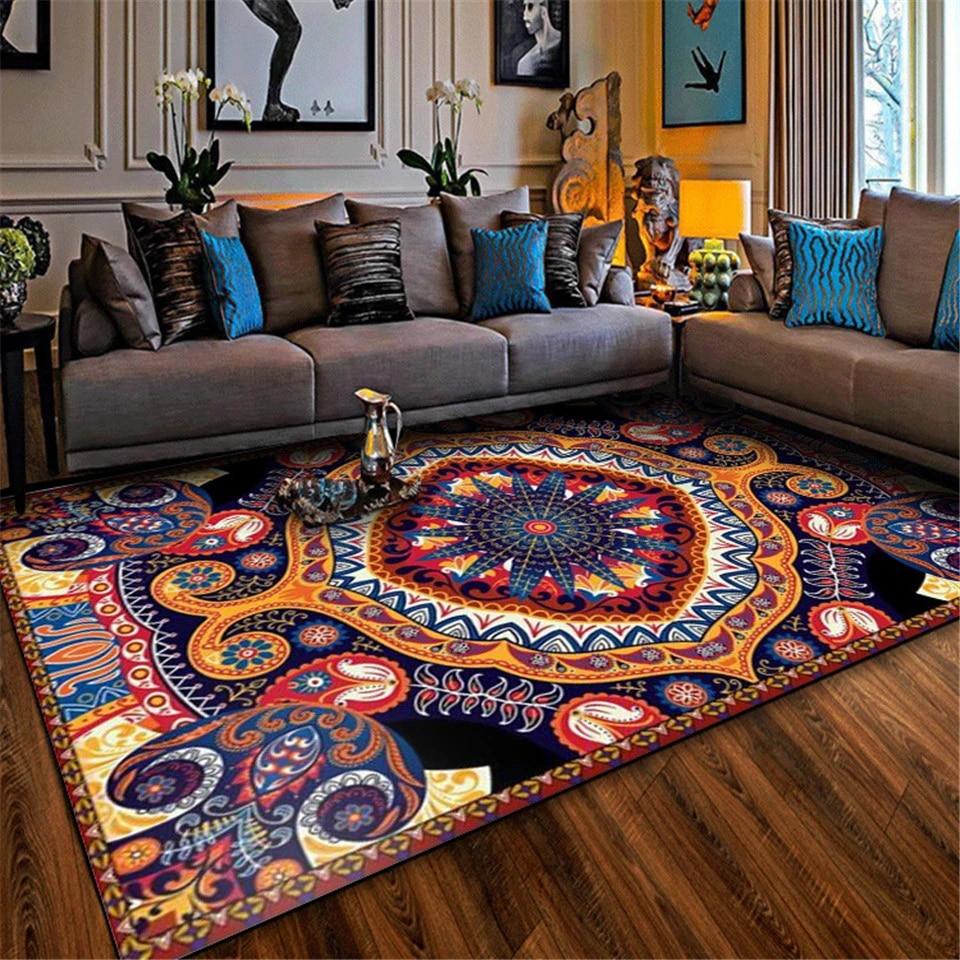 Wishstar Bohemia Turkish Ethnic Style Vintage Carpet For Living Room Colorful Boho Rug Floor Mat Bedroom Balcony Rug Carpet Aliexpress