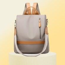 Женский рюкзак с защитой от кражи, водонепроницаемый нейлоновый женский рюкзак, Женский Вместительный рюкзак, высококачественный рюкзак