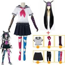 Anime Danganronpa 2 Mioda Ibuki Cosplay Costumes Dress Women Girls Jk School Uniform Sailor Suit Skirt Set