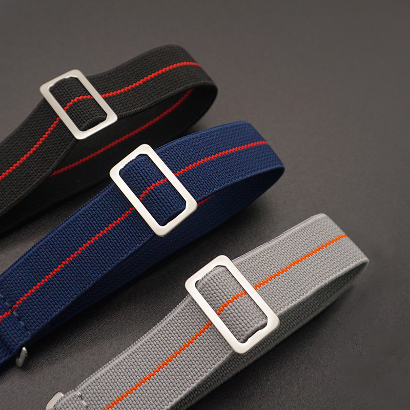20mm 22 mm Tropas Francesas Parachute Bag Para Marcas de Relógio NATO Nylon Elástico Cinto Geral Cinta Banda Pulseira Militar