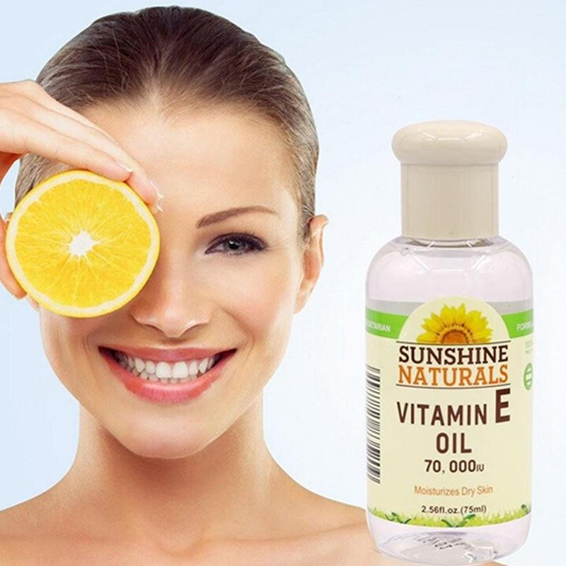 75ml Natural Vitamin E Oil Essential Natural Oil Pure Organic Anti-Aging Day And Night Essential Oil Face Serum