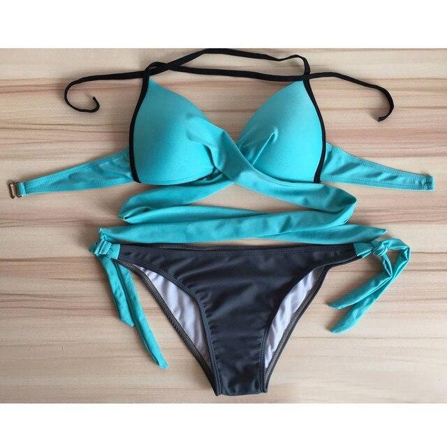 2021 New Bikini Push-up Padded Bra Swimsuit Bathing Sexy Hot Sale Swimsuit Women Bikini Set Swimwear Women's Bikini 5
