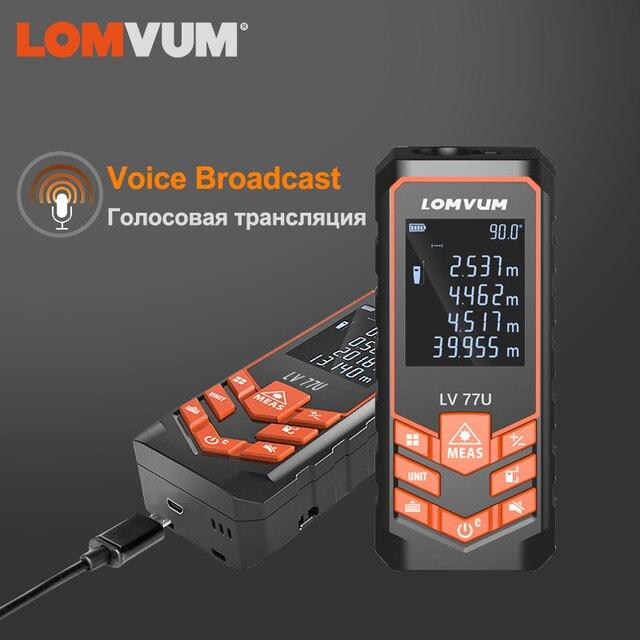 LOMVUM לייזר דיגיטלי לייזר רולטה מאחז לייזר מד טווח לייזר מרחק מטר חשמל רמת קלטת לייזר מדידה