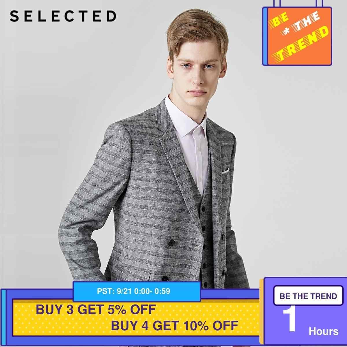 選択メンズレギュラースリムフィットストライプブレザー閉鎖襟のジャケットの服t | 41925X504