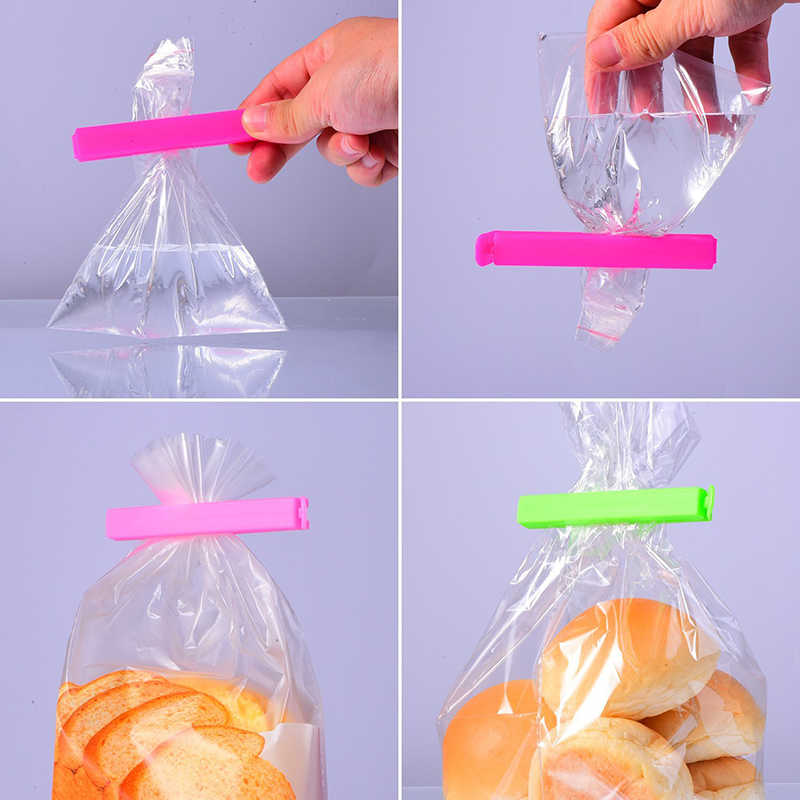 Home Makanan Segar Menjaga Penyimpanan Seal Clamp Penyegelan Lipat Plastik Clip Reusable Tas Makanan Ringan Anti Bocor Peg Portable Paket Resealer