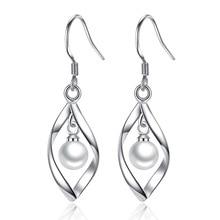 New Fashion Elegant Long Drop Earrings for Women Female Tassel Simulated Pearl Jewelry Unique Metal Geometric
