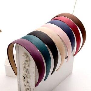 Новый корейский простой стиль 5 цветов широкая пластиковая повязка на голову однотонный обруч для волос модные аксессуары для волос для жен...