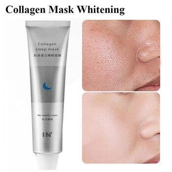 100ml Korea Collagen Sleep Mask Night Hydrating Sleep Mask Wash Free Repair Oil-Control Acne Treatment Shrink Pore Purify Skin huxley sleep mask good night