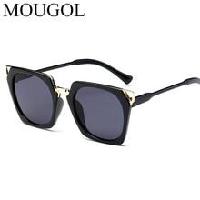 цена на MOUGOL New Hot Vintage Oversized Square Sunglasses Women Luxury Brand Fashion Sun Glasses Female Oculos De Sol Gafas
