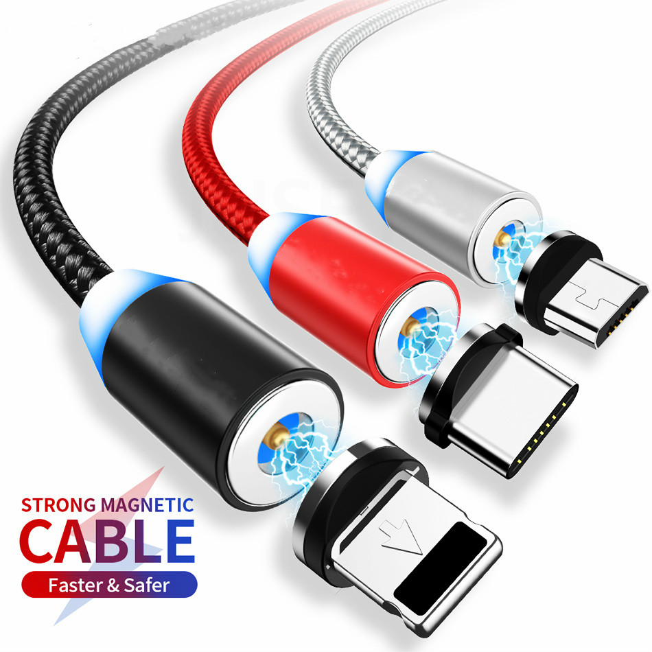 Magnetic Micro USB <font><b>Cable</b></font> For iPhone 11 Samsung Fast Charging Data Wire Cord Magnet Charger USB Type C 3m Mobile Phone <font><b>Cable</b></font> image