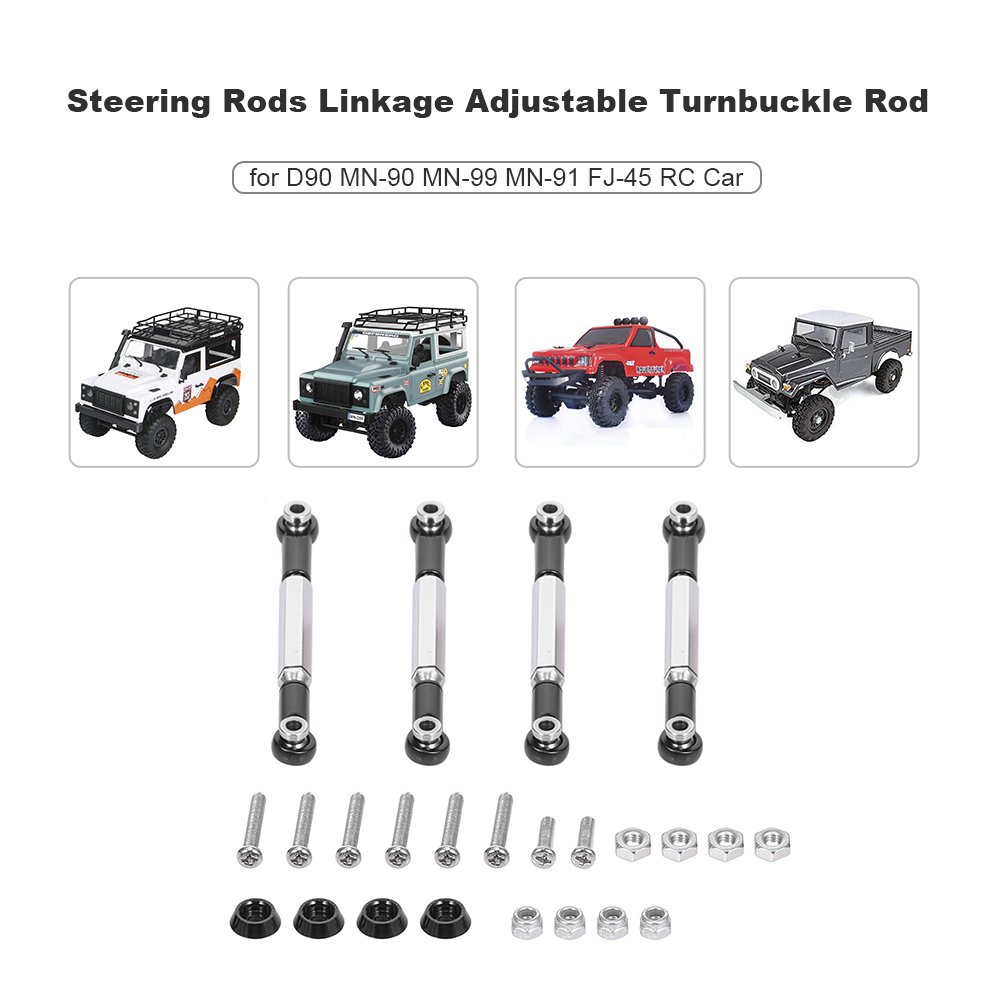 Metal Steering Linkage for 1//12 MN-D90 MN-90 MN-99 MN-91 FJ-45 RC Cars Truck