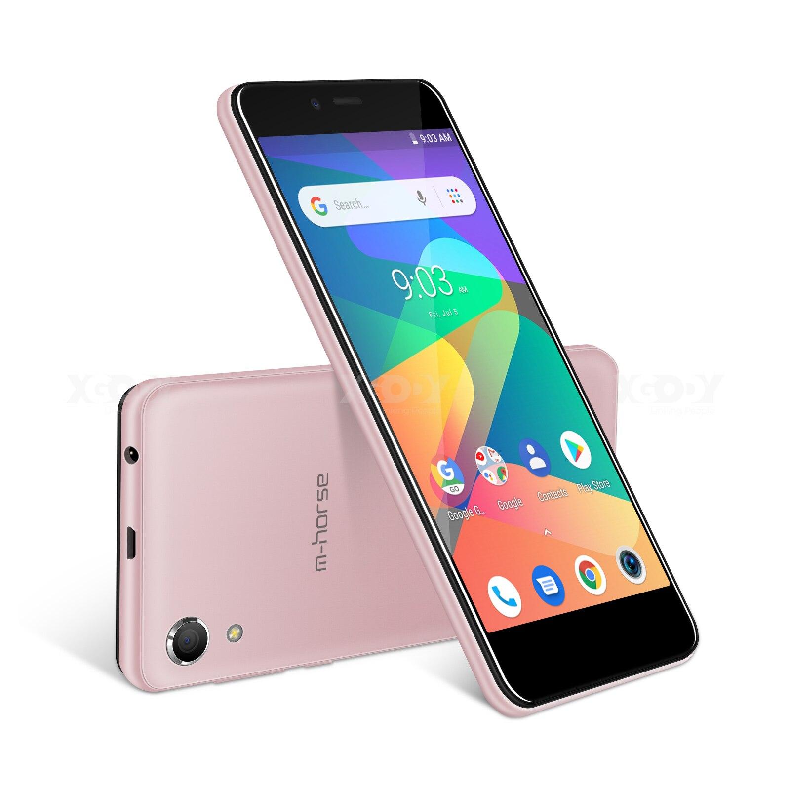 M-HORSE téléphone portable MTK6580 Quad Core Android 8.1 1GB RAM 8GB ROM 3G WCDMA 8.0MP 2000mAh double SIM Smartphone 5 pouces celulaire - 5
