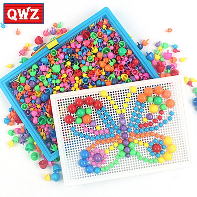296/592 шт. детей композитный интеллектуальные игрушки развивающие набор гвоздиков со шляпками игрушки для детей, подарки DIY Алмазная мозаика ...