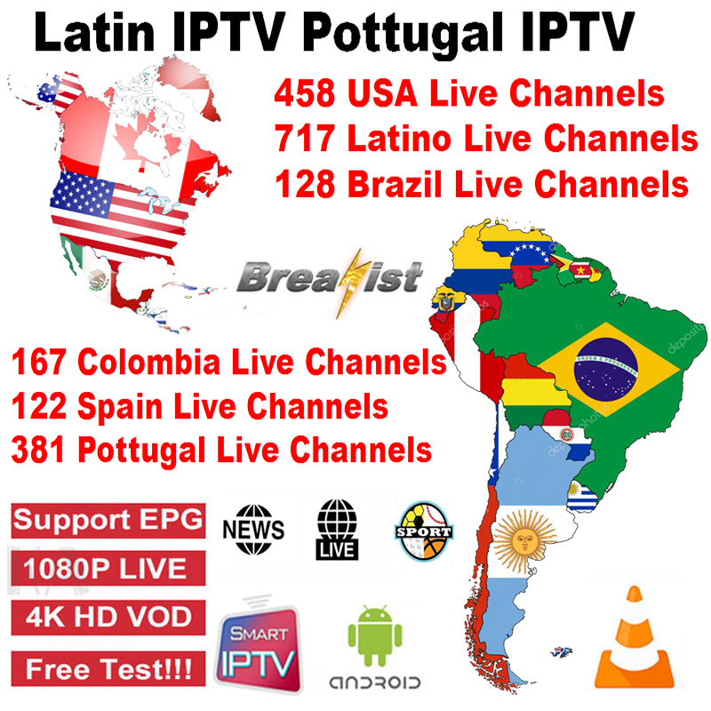 Spain Latin Portugal IPTV Subscription Latin USA Canada Smart TV Iptv Brasil Netherlands Android TV Box IPTV M3U 6000 Live