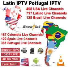 Spain Latin portugal IPTV Subscription Latin USA Canada Smart TV iptv Brasil Net