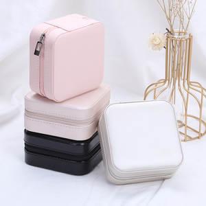 Jewelry Organizer Case-Boxes Storage Display Portable Zipper Joyeros