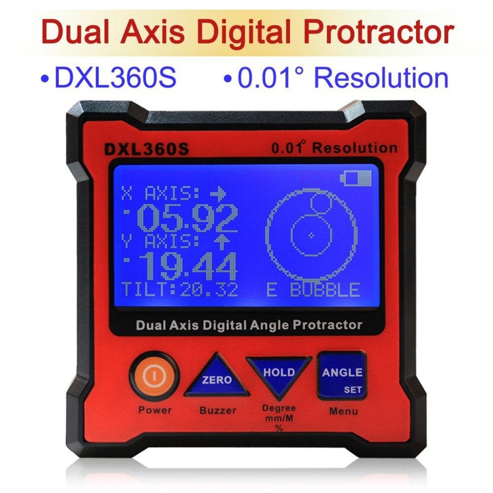 Новая модель DXL360/S/C V2 Цифровой угломер и уровень измерения двухосевого уровня коробка угол линейка измеритель высоты - Цвет: DXL360S