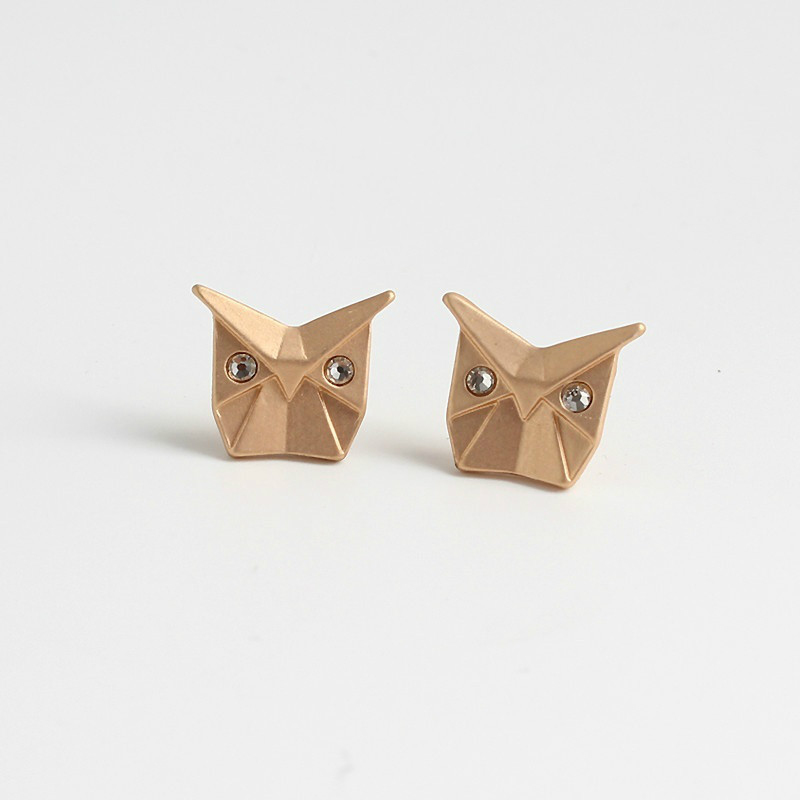 Girls Cute Little Elephant Studs Earrings Simple Cartoon Owl Earrings Daily Jewelry Gifts