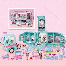 Original lol surpresa bonecas conjunto 2-em-1 glamper brinquedos meninas lol bonecas gitter fábrica diy jogar casa brinquedos para meninas presentes de aniversário