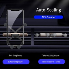 Phone Holder in Car Universal Car Phone Bracket Gravity Air Vent Clip Mount Stand for iPhone 11 7 Samsung S20 Smartphone Support universal gravity air vent mount gps stand car phone holder bracket supplies gravity car holder for phone in car air vent clip m