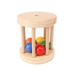 Детские Деревянные Монтессори Колокольчик для клетки обучающая игрушка музыкальный звук колокольчик 5 бусин игрушки мозги раннего развити...