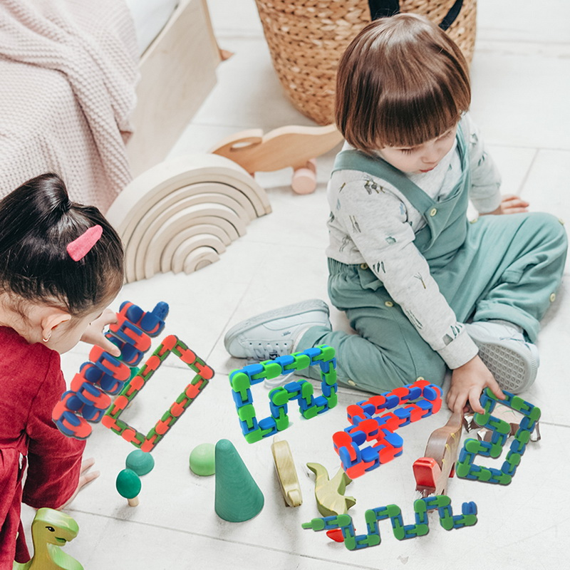 Toy Bracelet Chain Fidget-Toys Spinner Snake Anti-Stress Adult Children for Kids Puzzle img3