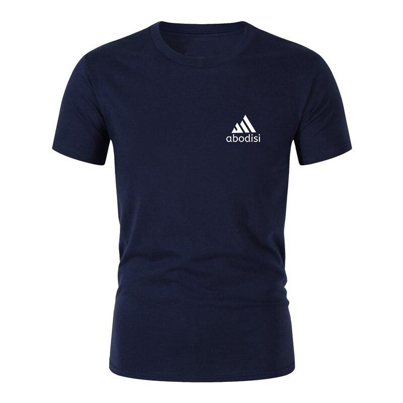 Esportes marca nova camiseta masculina camisa de manga curta moda casual algodão camiseta confortável respirável maré marca roupas
