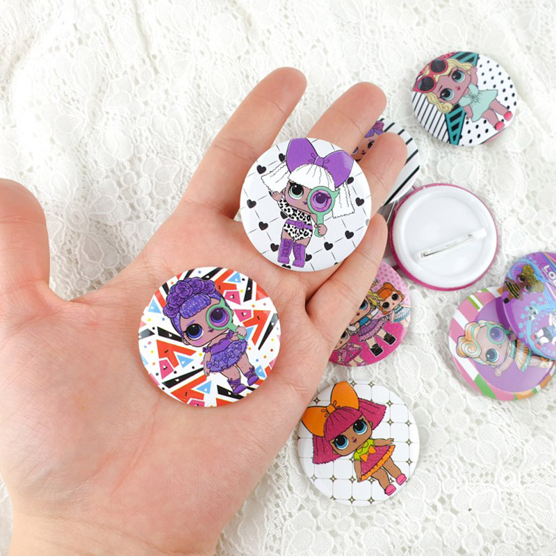 L.O.L.SURPRISE! Lol Dolls Toys Badge Birthday Party Decorations Toy Kid Anime Figure Cartoon Badges For Clothes Party Toys Gifts