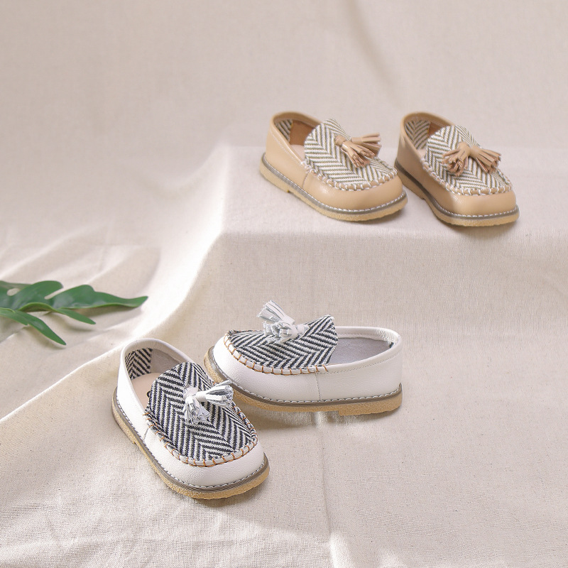 Spring 2020 baby girls boat shoes kids tassel shoes children black brand shoes boys slip on flats toddler soft loafers moccasin