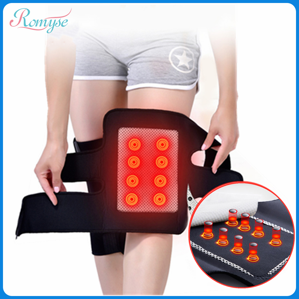 1Pair Tourmaline Self Heating Knee Pads Magnetic Therapy  Pain Relief Knee Protective Belt Health Care Arthritis Foot Massager