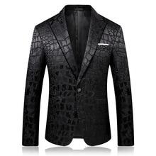 PYJTRL trendi erkek kaliteli moda rahat jakarlı Blazers Blazer erkekler Veste kostüm Homme