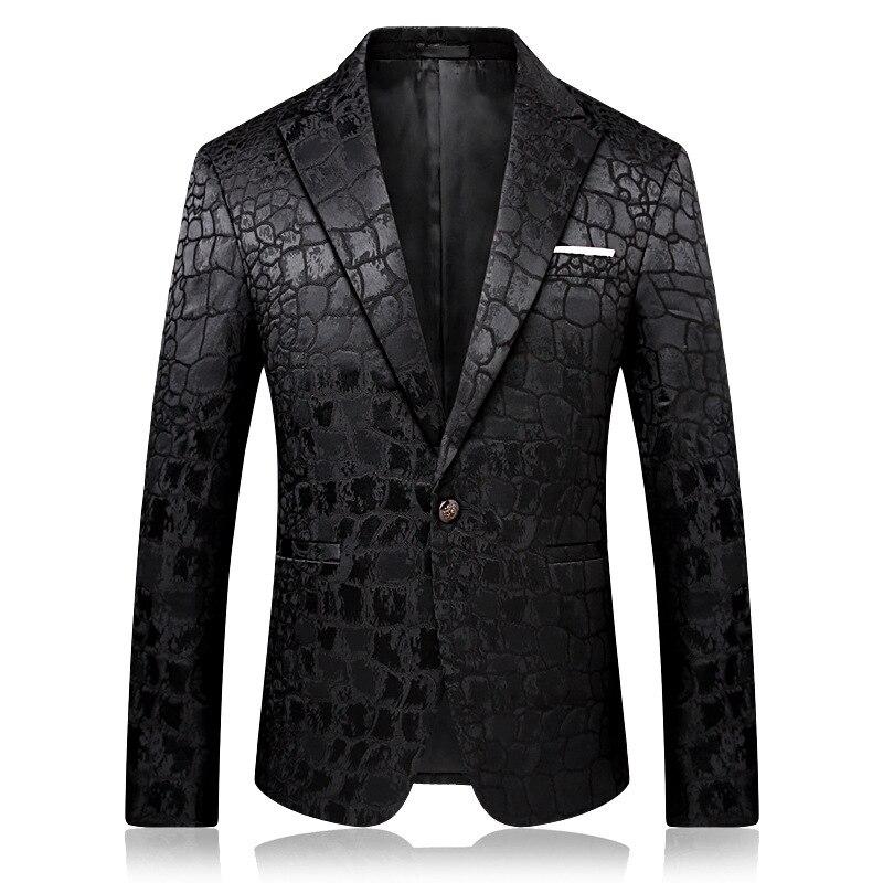 Pyjtrl Tendência Masculina Qualidade Moda Casual Jacquard Blazers Blazer Men Veste Traje Homme