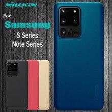 삼성 Galaxy Note 20 용 Nillkin 케이스 Ultra S21 S20 FE S10 S9 S8 Plus S10E 삼성 Note 10 Lite 9 8 용 하드 PC 케이스