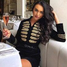 ファッション刺繍セレブパーティードレスセクシーな黒ボディコン滑走路クラブドレス 新しい女性包帯ドレス 2020 Seamyla