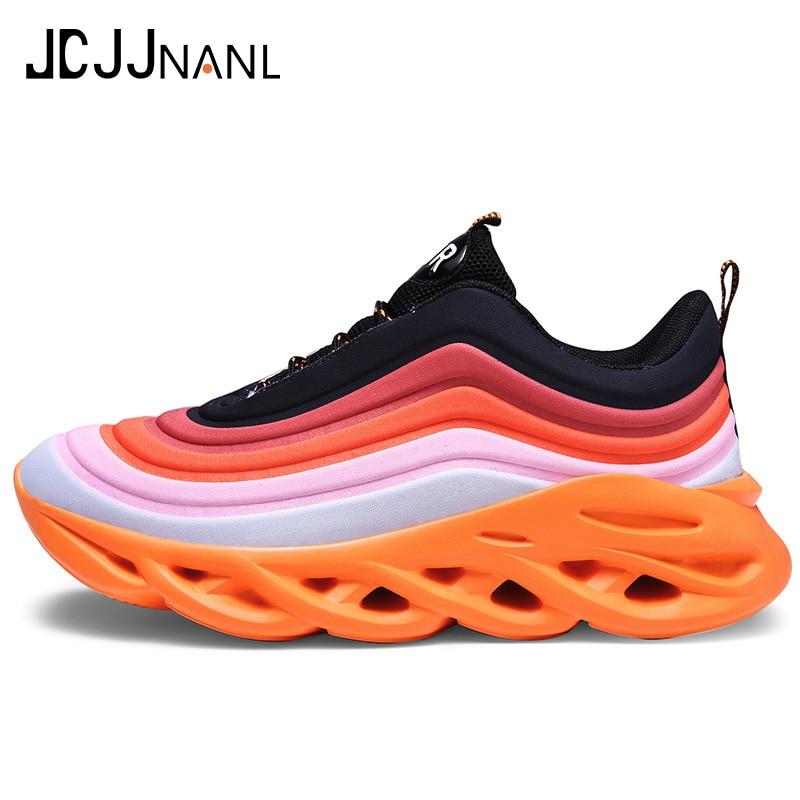 Hot Sale JCJJNANL New Listing Brand Designer Trendy Casual Shoes Durable Outsole Trainer Zapatillas Deportivas Hombre size US 12